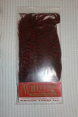 Whiting Grizzly Burgundy Bugger Pack Fly Tying Fishing Materials
