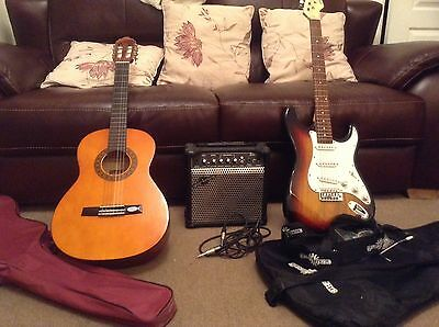 Child's Electric Guitar and amp