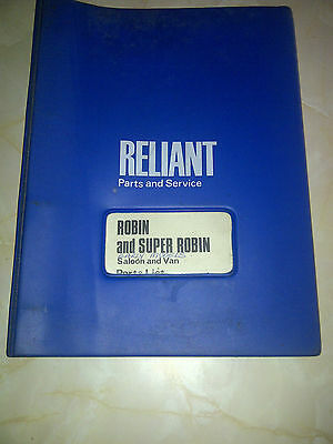 reliant robin parts catalogue