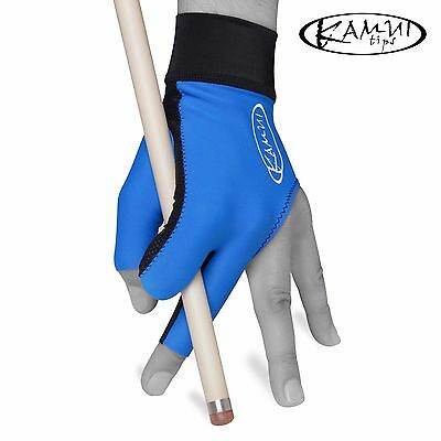 New KAMUI Billiard Pool GLOVE - Small - For Left Hand - Blue + FREE shipping!