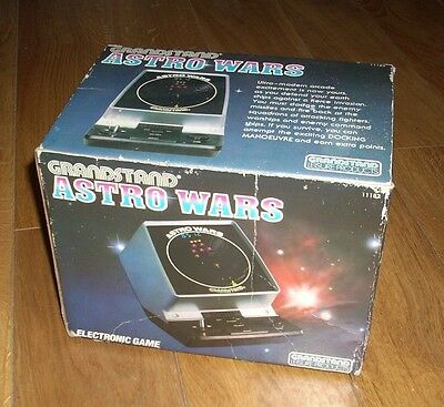 Vintage Handheld Electronic Game - Grandstand Astro wars 1981 Boxed