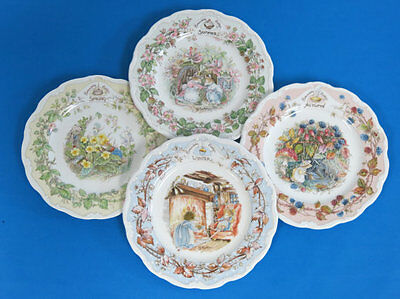Brambly Hedge set Spring, Summer, Autumn, Winter Seasons Tea/ Wall Plates
