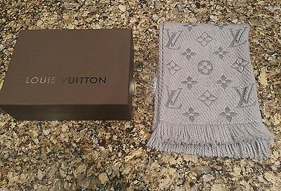 Authentic Louis Vuitton Logomania Wool Scarf