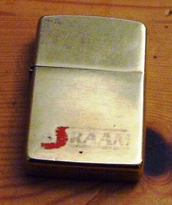 1995 Royal Air Force Mbda Solid Brass  Asraam Nothing Comes Close Zippo Lighter