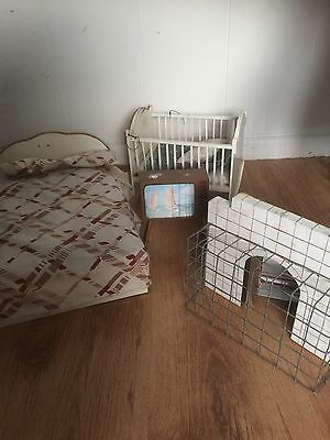 Vintage Large Play scale Dolls House Furniture