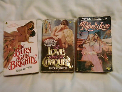 A Rebel's Love and two other books by Joyce Verrette - 3 books -