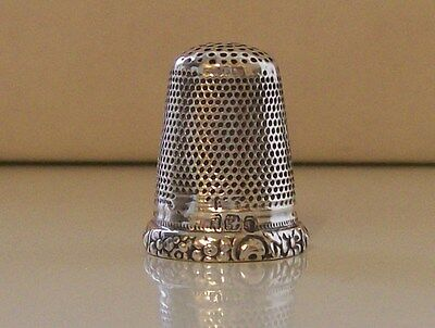 Nice Rare Antique Solid Silver Thimble Hallmarked Sheffield 1902