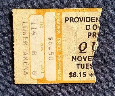 Queen / Thin Lizzy  November 1977 Ticket Stub Providence (Free Shipping)
