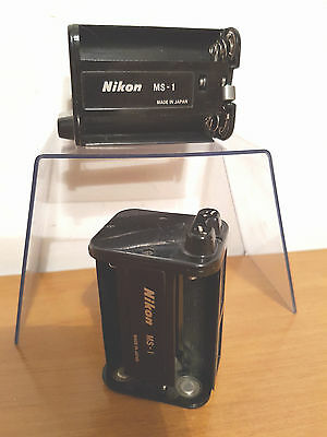 Nikon Accessori - Rarissimi Porta Batterie Ms-1 Per Battery-Pack Mb-1 / Nikon F2