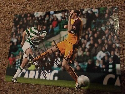 Paul Hartley Hand Signed Glasgow Celtic 6x4 Photo Scotland Hearts Aberdeen