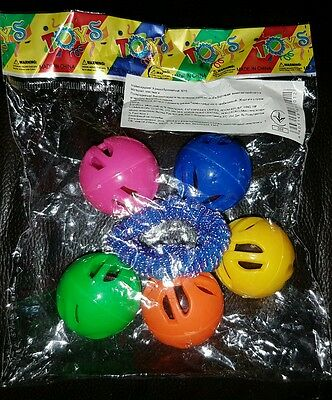 Toys baby rattle ball elastic multicolor plastic New