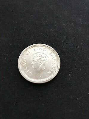 1945 King George Vl, British India ,One Rupee ,Silver