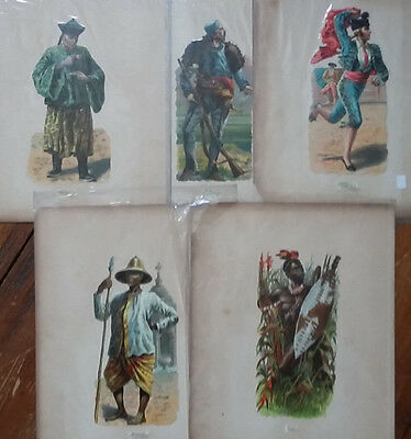 Harry Payne 5 x large 18cm die cut Victorian lithograph scrap + 29 kings knights