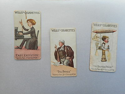 Wills's Cigarette Cards Set Of 3 Vanity Fair  From 1902