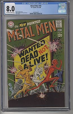 METAL MEN #34 CGC 8.0 OWW Pages DC Silver Age