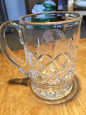Royal Doulton  Crystal Tankard 1/2 pint Featuring Ocean Liner Queen 2