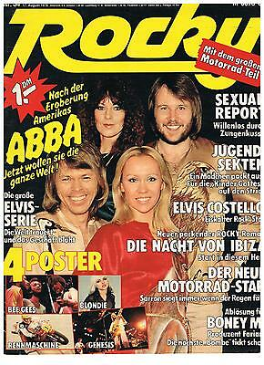 Abba-  Rare Pop Rocky Magazine Cover 34/78 Only Cover