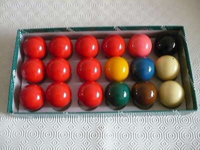 """Aramith PREMIER Snooker balls size 1 and 7/8 """""""