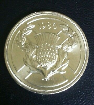Old Style £2 coin. Commonwealth Games 1986 Uncirculated condition