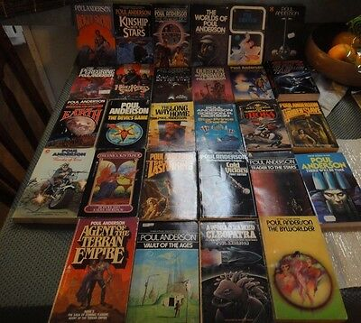 Poul Anderson Lot of 28 Science Fiction Books