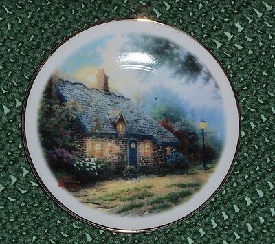 Thomas Kinkade Moonlight Cottage Collector Decorative Plate