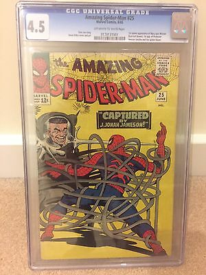 Amazing spiderman #25 1964 CGC 4.5, 1st  MARY JANE WATSON