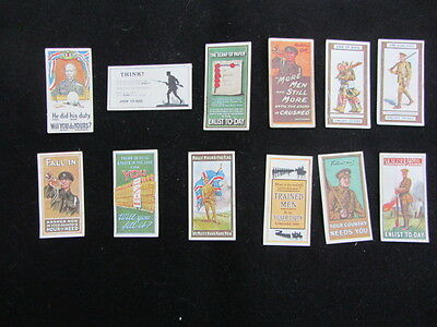 Wills cigarette cards.. Recruiting posters. full set 12 cards.vg to ex condition