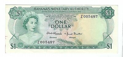 """Bahamas - 1968, One (1) Dollar  """"Z"""" replacement !!!"""