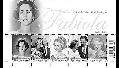 BELGIUM 2015, Commemoration H.M. Queen Fabiola, SHEET MNH(fr)