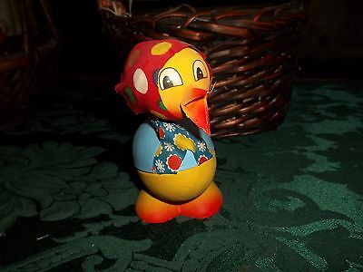 Vintage Easter Duck Candy Container  w/Babushka  Western Germany