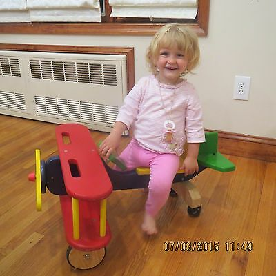 wooden toddler airplane ride-on..by the land of nod