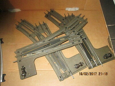 HORNBY 0 GAUGE 3 RAIL ELECTRIC LEFT HAND TURNOUT x 3