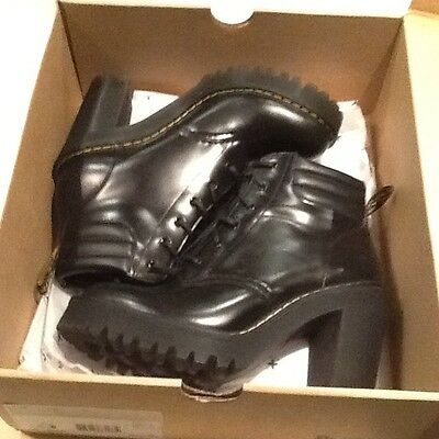 Brand New Dr Martens Persephone Black Leather Ankle Boots Size 4/37