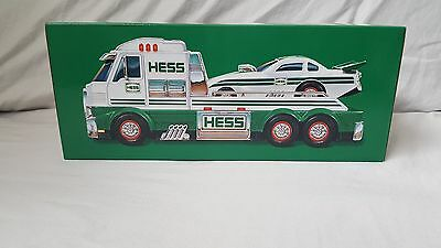NEW in box 2016 toy hess truck and dragster, lights & sounds, includes batteries
