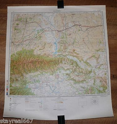 Authentic Soviet TOP SECRET Military Map Rock Springs, Wyoming, WY USA #11