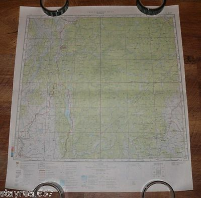 Authentic Soviet TOP SECRET Military Topographic Map Payette, Idaho USA #79