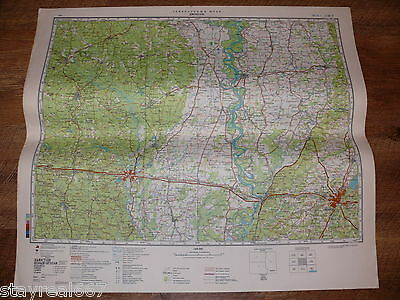 Authentic Soviet USSR Military Topographic Map Jackson, Mississippi USA #157