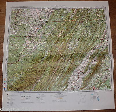 Authentic Soviet USSR Military Topographic Map Cumberland, Maryland USA #64