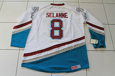 Nhl Mighty Ducks Anaheim Selanne Jersey Ice Hockey Size Extra Large 52 White