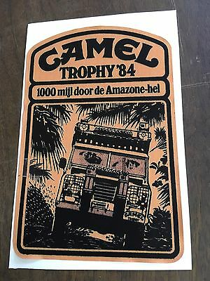 Land Rover 1984 Camel Trophy Decal