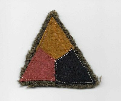 WW1 Armored Corps patch - Wool on OD wool - US Army