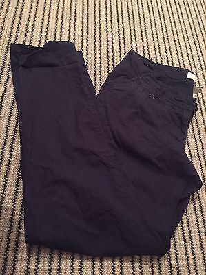 Maternity Trousers Size 14L Chinos Navy Blue, Next