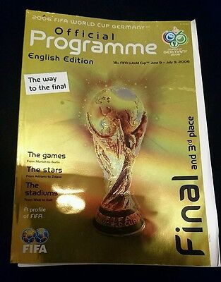2006 world cup tournament final programme Italy France Germany Portugal 3 place