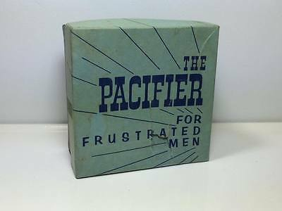"""Mid Century """"The Pacifier for Frustrated Men"""" novelty gift nude tit Made in USA"""