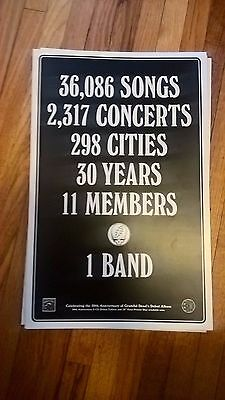 Grateful Dead LP Promotional Poster 50th Anniversary Double Sided Lithograph