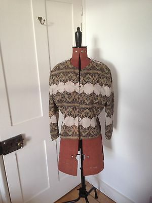 100% Silk Patterned Vintage Jacket Papell 16
