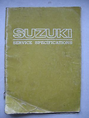 Suzuki Service Data Manual - GS1000 - GT250 - TS185 - PE250 and many more - 1979