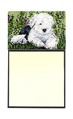 Caroline's Treasures SS8840SN Old English Sheepdog Refillable Sticky Note Holder