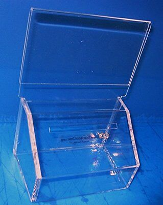 National Display Warehouse Clear Charity Collection Container / Donation box
