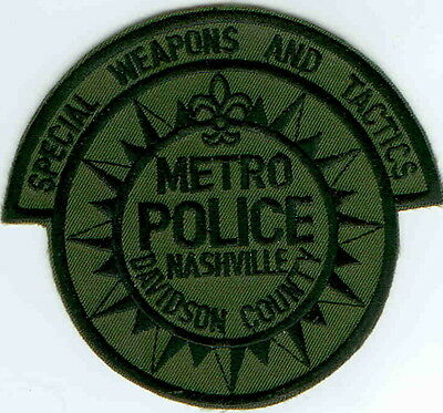 Metro Police Nashville Davidson County SWAT Police Patch Tennessee TN NEW!!